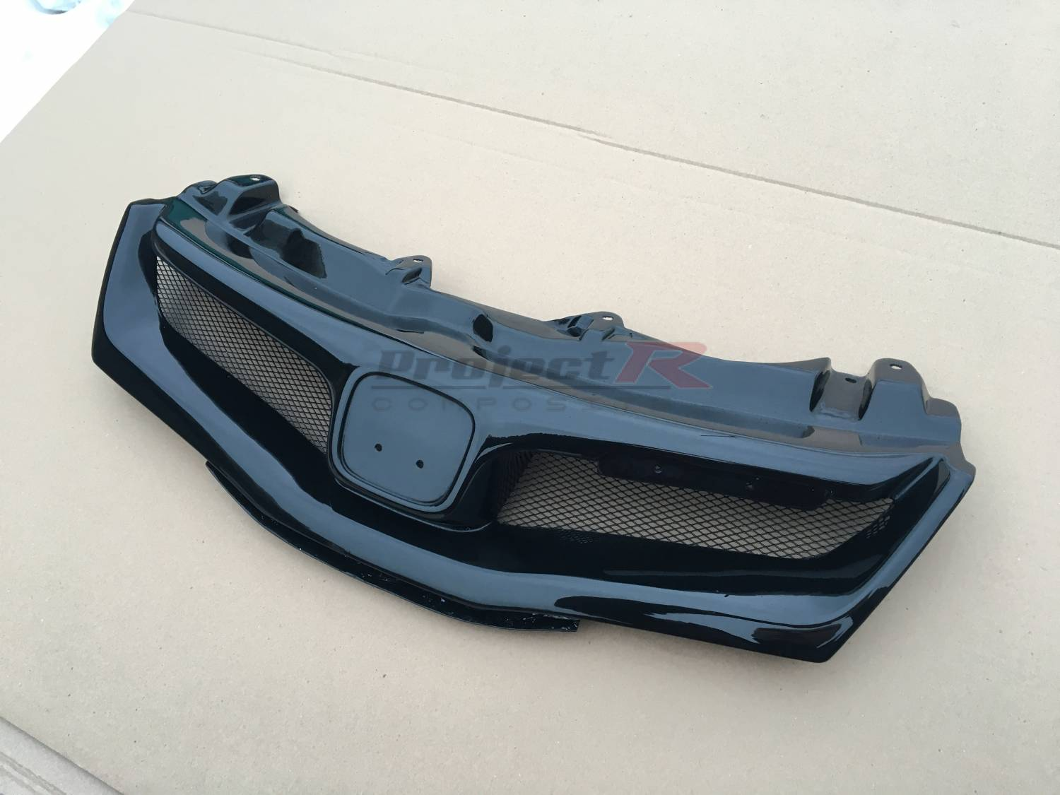 Black gloss Front Sports Grille Mugen HONDA CIVIC FN2 TYPE-R