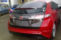 Real carbon cover trunk for Honda Civic FN2